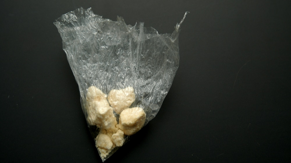 Crack Cocaine Addiction and Abuse North Jersey Recovery Center - An image of crystalized crack cocaine in a bag that often leads users to develop a crack cocaine addiction.